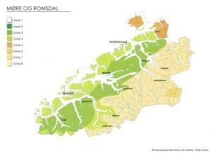 Klimasonekart for Møre og Romsdal